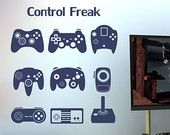 Video Game Controllers Vinyl Wall Decal Teen Room Boy and Girl Room Decor
