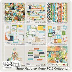 Snap Happier: June 2015 Collection by Bella Gypsy Designs #digiscrap, #bellagypsy