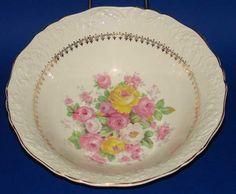 Knowles China Cremelace Vegetable Serving Bowl Vintage American Dinnerware $12.95
