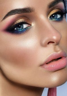 Gorgeous Makeup, Love Makeup, Makeup Inspo, Makeup Inspiration, Makeup Looks, Crazy Makeup, Makeup Geek, Makeup Ideas, Highlighter Makeup