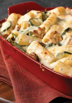Creamy Zucchini & Spinach Rigatoni — Get 'em to say Yes! to zucchini—and spinach—with this creamy rigatoni pasta dish. Just another day in the life of a rock-star mom.