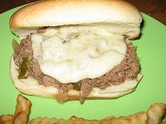 Easy crock pot Philly cheesesteak