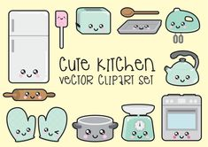 Prime Vector Clipart Clipart de cuisine par LookLookPrettyPaper
