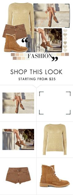 """""""The New Classics With UGG: Contest Entry"""" by shyanimallover5 ❤ liked on Polyvore featuring UGG, C.O. Bigelow, mel, Madewell, Boots, shorts, brown, beige and ugg"""