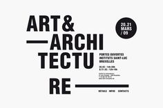 Identity Art  Architecture St Luc Institutes Brussels