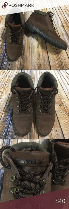Timberland Brown Leather Trail Hiking Boots Size 5 This is a pair of Women's Timberland Brown Leather Trail/ Hiking Boots Size 5. These boots are in excellent gently used condition. Please take a look at all photos for condition and if you have any questions feel free to ask. Timberland Shoes Lace Up Boots