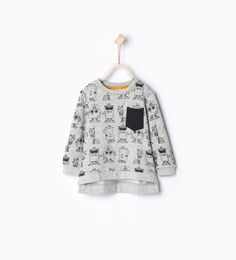 Image 1 of Graffiti organic cotton sweatshirt from Zara