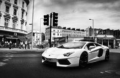 Lamborghini Aventador LP700-4, Black and White