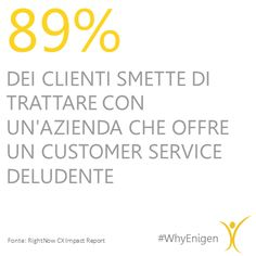 The importance of #CustomerExperience showed in this #Data #WhyEnigen