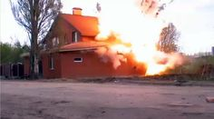 A POLICE DOG FOUND EXPLOSIVE CACHE...we should do that here!  Explosives found in an illegal Muslim prayer hall near the Russian city of Samara was eliminated right inside the building. Bomb disposal team deemed it too dangerous to take the explosives out.  The video of the controlled explosion shows a considerable part of the building being destroyed in the blast.  #TrumpTrain #Putin