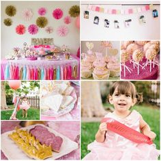 Beauty Queen Birthday Party Theme Pink Glitter Crown Kids Girl Princess