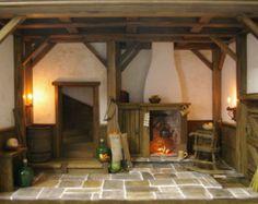 Custom Dollhouse Room Boxes | Dollhouse Roombox - Stunning Handma de 12th Scale - Cottage / Tudor ...