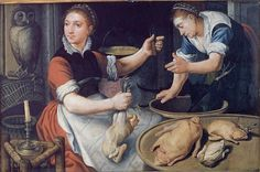 Two Women Cooking, 1562. Aertsen
