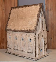 Shabby Chic Chapel Church Decorative Birdhouse Table Decor,11'' x 27''H. #Unbranded