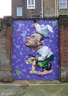 Street art ROES Londres