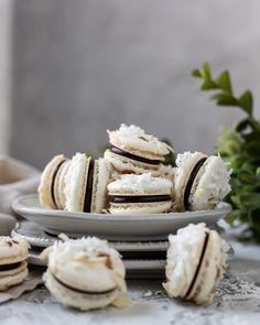 Almond Joy French Macarons - Kitchen 335