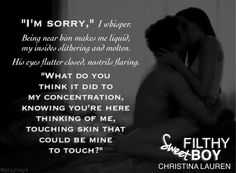 """Illustrated Temptations: Sweet Filthy Boy by Christina Lauren  """"Who made you this wet?"""" #SweetFilthyBoy @Christina Childress Childress Hobbs @lolashoes @Mandy Bryant Sloan Books @Simon Starr Starr & Schuster"""