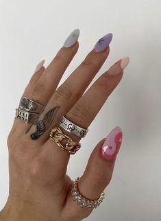 Nail Design Stiletto, Nail Design Glitter, Nails Design, Aycrlic Nails, Swag Nails, Hair And Nails, Grunge Nails, Funky Nails, Trendy Nails