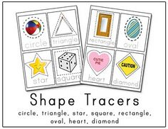Shape Tracer Printable - I like this because kids recognize shapes in real life anyway - makes a good worksheet.