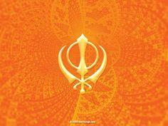A Khanda (Sikh symbol) Baba Deep Singh Ji, Faith Symbol, Symbol Design, Religion, Symbols, Brooch, Punjabi Quotes, Art, Swords