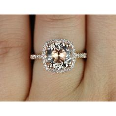 Barra Princess Size 14kt Rose Gold Thin Morganite  ($1195)