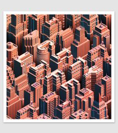 City Life - Isometric Cityscape | Abduzeedo Design Inspiration