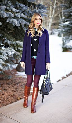 Majestic Blue Coat #preppy #style #fashion I wish I could wear something like this to work!