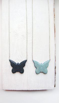 Handpainted pendant butterfly pendant butterfly by MagicTwirl