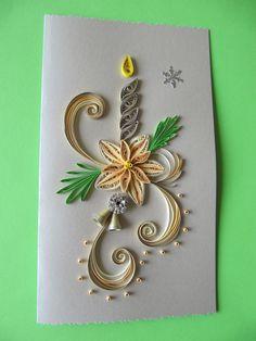 Handmade Christmas Greeting Card Paper Art by RudiBelArt on Etsy