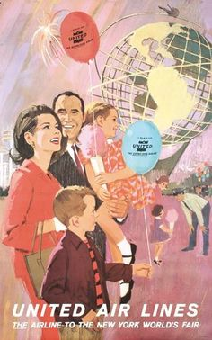 Vintage New York World's Fair Tourism Ad ~ United Air Lines