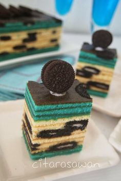 Recipes today - Kek Lapis Keju Oreo