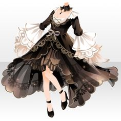 Dress Design Drawing, Dress Drawing, Drawing Clothes, Anime Outfits, Cool Outfits, Anime Dress, Fashion Design Drawings, Fantasy Dress, Character Outfits