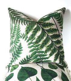 45x45cm Green botanical cushion cover plants by AugustPlaceUK