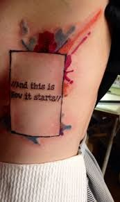 Image result for 1975 rectangle tattoo
