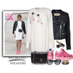 Sneakers by jan31 on Polyvore featuring moda, STELLA McCARTNEY, Burberry, Topshop and Chanel