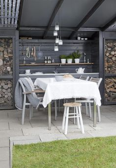 Get ready to give a new life to your backyard with outdoor kitchen design and ideas that I will show you. Belive me, they'll turn your backyard into the hottest place in your neighborhood this summer! Rustic Outdoor Kitchens, Outdoor Kitchen Cabinets, Patio Kitchen, Summer Kitchen, Outdoor Kitchen Design, Kitchen On A Budget, Outdoor Rooms, Outdoor Dining, Outdoor Furniture Sets