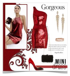 """""""Red Passion"""" by angelicallxx ❤ liked on Polyvore featuring Yves Saint Laurent, Suzanne Kalan, Christian Louboutin and minidress"""