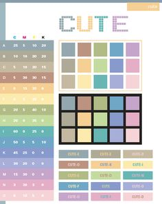 Color Schemes | Cute color schemes, color combinations, color palettes for print (CMYK ...