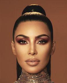 Girls Makeup, Glam Makeup, Beauty Makeup, Eyeliner Makeup, Makeup Brush, Kim Kardashian Wedding, Kardashian Style, Kim Kardashian Makeup Looks, Natural Prom Makeup