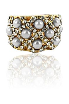 Miss Ring In Gold, Clear & Mother of Pearl