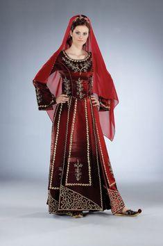 bindallı kaftan kına elbisesi