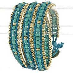 Turquoise Wrap Bracelet.