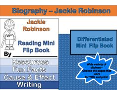 I created this mini biography flip book to support my students' readings during Black History Month - and I have a wide variety of learners. After searching and searching for activities that might fit them all, I started creating my own.I wanted the OUTPUT to be the same, completing a reading and performing reading related activities that would support a review of skills they had learned.