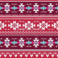 modèle sans couture tribal vecteur aztèque — Illustration #40499463