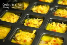 Omelets in a pan - make and have have them for a week! Or freeze them for later