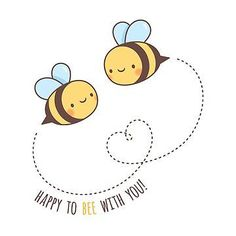 "'Cute Happy To Bee With You' Sticker by rustydoodle ""Beauty Comes in All Shapes and Sizes Doodle Quote"" Sticker by rustydoodle"