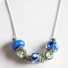 DIY ! make your own photo bead necklace. Want to do this with my kids pics.