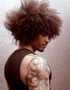 Tattoo wave arm hair New Ideas Big Natural Hair, Pelo Natural, Natural Hair Growth, Natural Hair Styles, Black Men Hairstyles, Afro Hairstyles, Haircuts For Men, Pretty Hairstyles, Men's Hairstyle