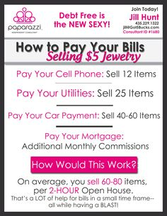 Sell Paparazzi Accessories- Earn 45% in profit sales! Consultant ID #1680 or e-mail me!