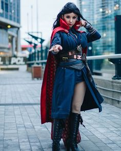 Marvel Costumes, Girl Costumes, Costumes For Women, Cosplay Costumes, Cosplay Ideas, Halloween Costumes, Dr Strange, Female Marvel Cosplay, Genderbent Cosplay